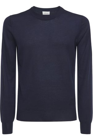 BRIONI Logo Embro Cashmere & Silk Sweater