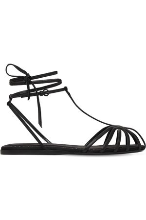 Max Mara 10mm Flora Leather T-bar Sandals