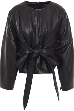Muubaa Woman Belted Leather Top Size 10