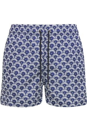 Apnee Men Swim Shorts - Printed Regenerated Nylon Swim Shorts