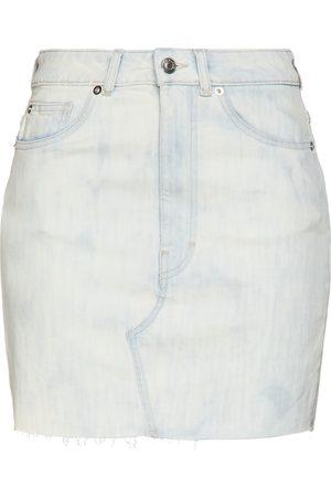 IRO Woman Rosier Distressed Denim Mini Skirt Light Denim Size 36