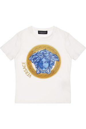 VERSACE Girls T-shirts - Medusa Print Cotton Jersey T-shirt