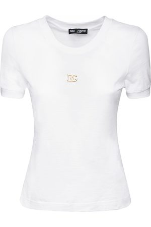 Dolce & Gabbana Metal Logo Cotton Jersey T-shirt