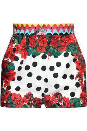Dolce & Gabbana Printed Silk Twill Shorts