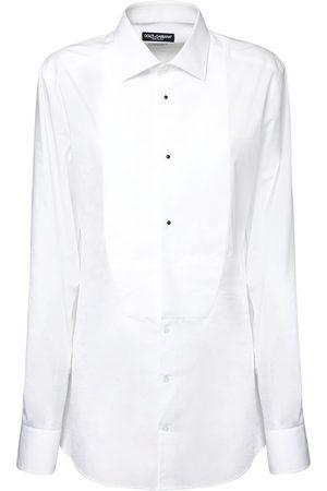 Dolce & Gabbana Women Shirts - Cotton Poplin Tuxedo Shirt