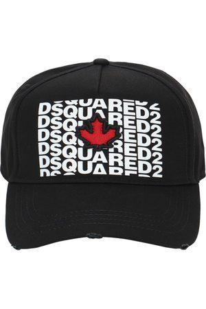 Dsquared2 Men Caps - Embroidered Cotton Gabardine Cap
