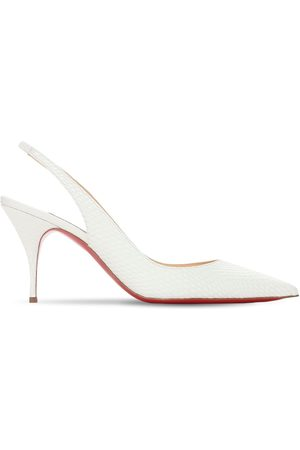 Christian Louboutin 80mm Clare Snake Print Leather Pumps
