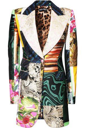 Dolce & Gabbana Jacquard Printed Patchwork Jacket