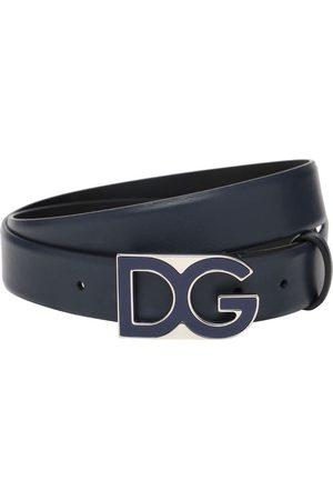 Dolce & Gabbana Men Belts - 30mm Dg Leather Belt