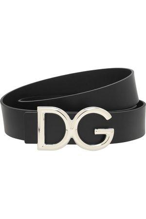 Dolce & Gabbana Men Belts - 35mm Dg Buckle Leather Belt