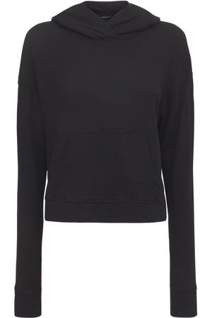James Perse Relaxed Cotton Cropped Hoodie