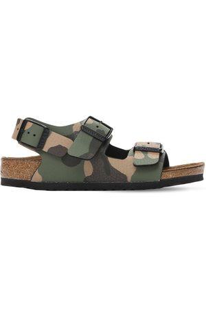 Birkenstock Boys Sandals - Camouflage Print Faux Leather Sandals