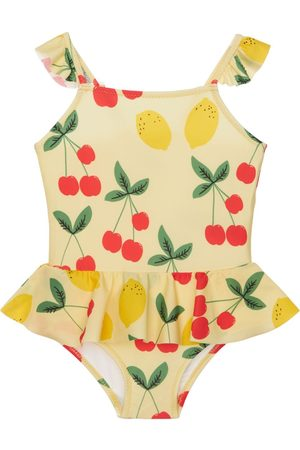 Mini Rodini Girls Swimsuits - Fruit Print Recycled One Piece Swimsuit