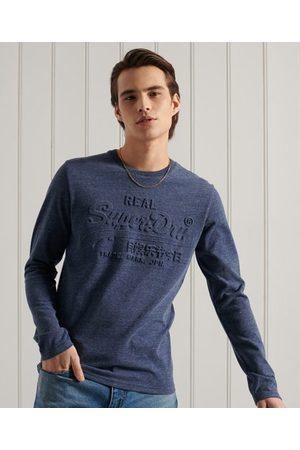 Superdry Men Long sleeves - Vintage logo Embossed Long Sleeve Top
