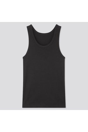 UNIQLO Men's Dry Ribbed Tank Top, , XXS