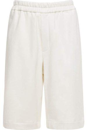 Jil Sander Plus Embroidered Organic Cotton Shorts