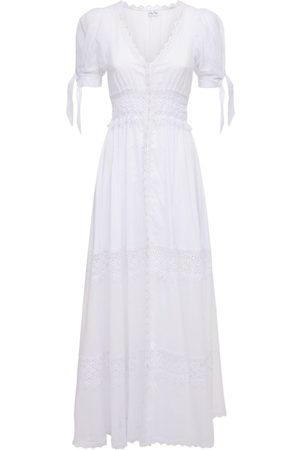 CHARO RUIZ IBIZA Thelma Voile & Broderie Long Dress