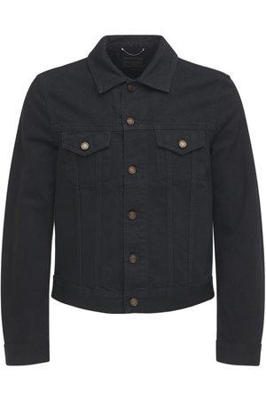 Saint Laurent Men Denim Jackets - Fitted Cotton Denim Jacket