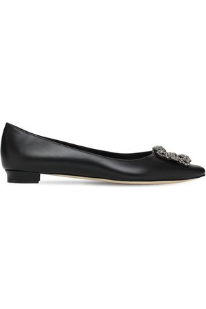 Manolo Blahnik Women Ballerinas - 10mm Hangisi Leather Flats