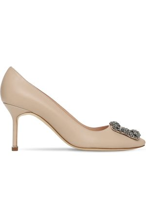 Manolo Blahnik Women Heels - 70mm Hangisi Leather Pumps