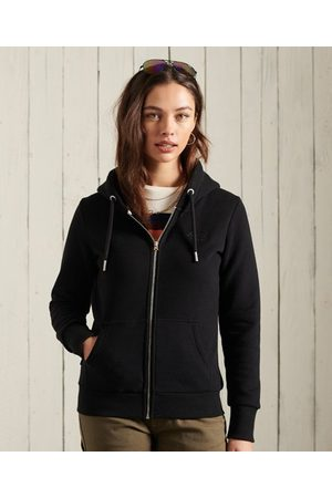 Superdry Women Hoodies - Orange Label Classic Zip Hoodie
