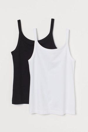 H&M Women Tank Tops - 2-pack Cotton Tank Tops