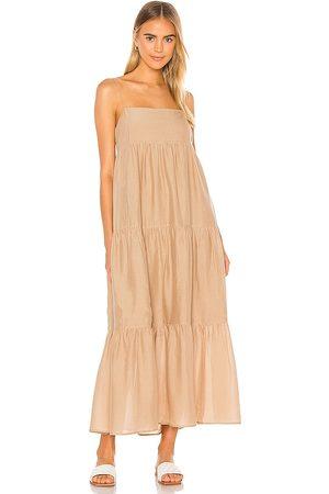 L'Academie Women Maxi Dresses - The Kiyama Maxi Dress in Tan.