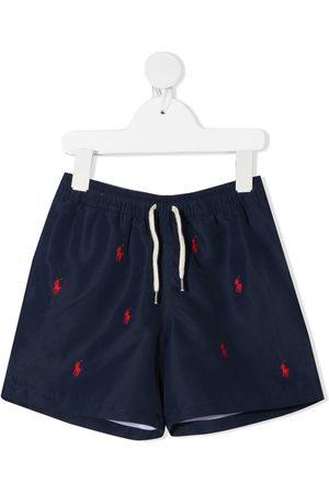 Ralph Lauren Boys Swim Shorts - Logo-embroidered swim shorts