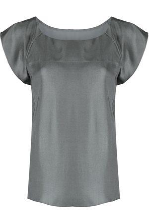 Emporio Armani Women Blouses - Cap-sleeve blouse - Grey