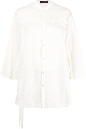 UNDERCOVER Belted pleated shirt