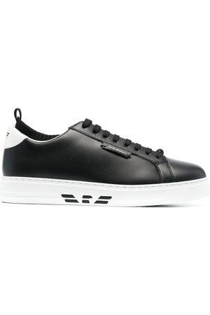 Emporio Armani Men Sneakers - Two-tone low-top sneakers
