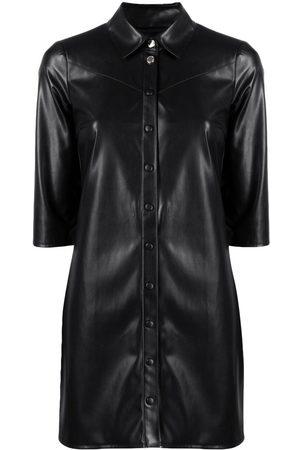 Patrizia Pepe Faux-leather shirt dress