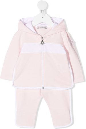 Moncler Stripe-detail tracksuit set