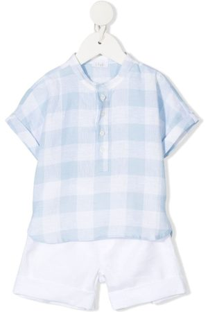 Il gufo Checked shirt and short set