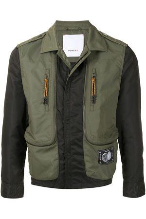 Ports V Bomber Jackets - Panelled zipped bomber jacket