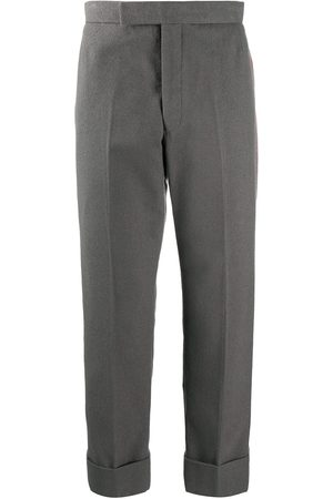 Thom Browne Backstrap side-stripe cotton trousers - Grey