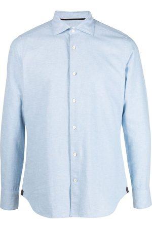 Tintoria Mattei Men Long sleeves - Long-sleeve chambray shirt