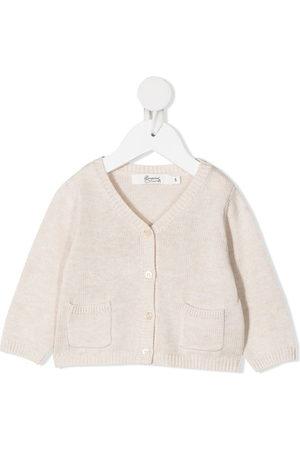 BONPOINT Cardigans - V-neck knit cardigan - Neutrals