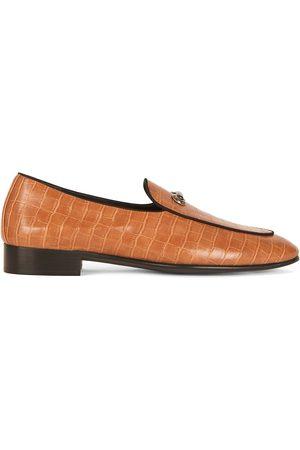Giuseppe Zanotti Men Loafers - Archibald crocodile effect loafers - Neutrals