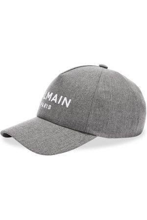 Balmain Men Caps - Wool Logo Cap