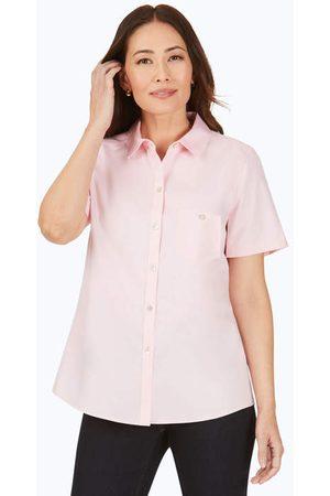 Foxcroft Women Short sleeves - Hampton Essential Pinpoint Non-Iron Short Sleeve Shirt