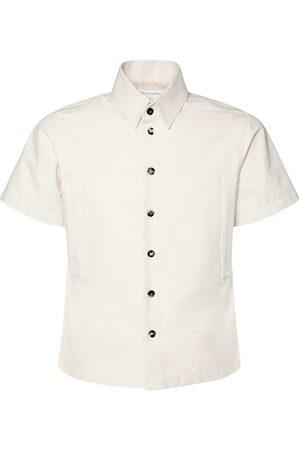 Bottega Veneta Cotton Twill Short Sleeve Shirt