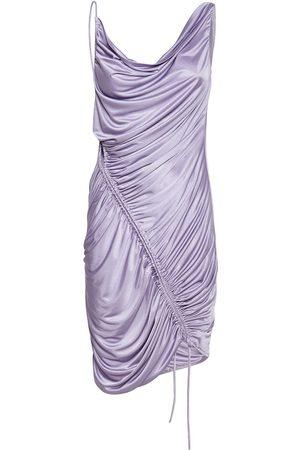 Bottega Veneta Women Casual Dresses - Draped Satin Jersey Mini Dress
