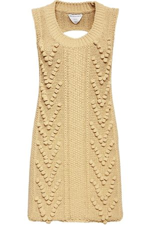 Bottega Veneta Women Knitted Dresses - Knit Sleeveless Dress W/ Back Cutout