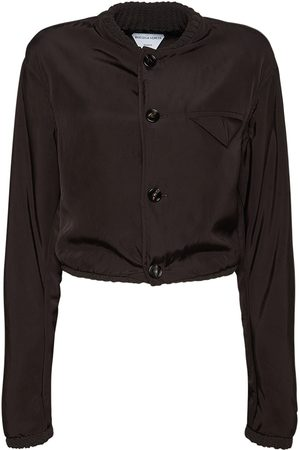 Bottega Veneta Washed Fluid Viscose & Silk Jacket