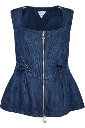 Bottega Veneta Fluid Denim Sleeveless Top