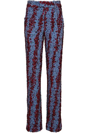 Bottega Veneta Compact Bubble Bouclé Straight Leg Pants
