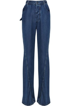Bottega Veneta Women Straight - Fluid Cotton Denim Straight Leg Jeans