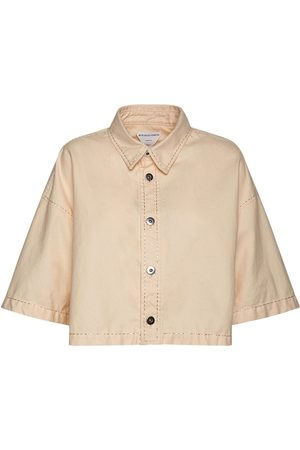 Bottega Veneta Cropped Cotton Twill Shirt