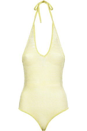 Bottega Veneta Women Bodies - Fishnet Knit Halter Neck Bodysuit
